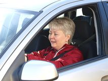 Woman driving Stock Photo