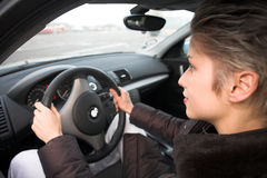 Woman driving Royalty Free Stock Photo