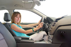 Woman driving royalty free stock images