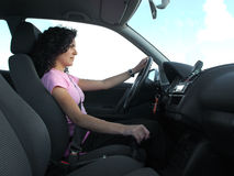 Woman driving Royalty Free Stock Photos