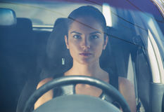 Woman Driving Stock Image