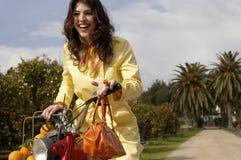 Woman Driving Bike Royalty Free Stock Photo