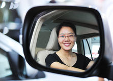 Woman driving car Stock Photos