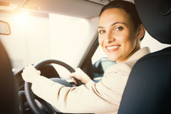 Woman driving a car Royalty Free Stock Photography
