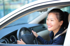 Woman driving a car Stock Photography
