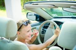 Woman driving a car Stock Photos