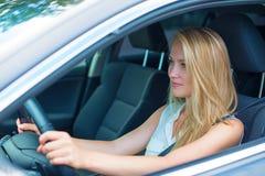 Woman driving a car. Royalty Free Stock Photo