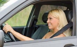 Woman driving a car. Stock Photos
