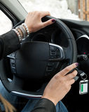Woman Driving Royalty Free Stock Image
