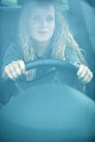Woman driving her new car Royalty Free Stock Photo