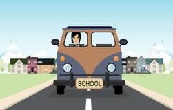Woman driving a van. Royalty Free Stock Photo