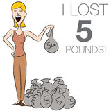 Woman Dropping Pounds Royalty Free Stock Photos