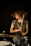 Woman drummer Stock Photos