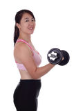 Woman dumbbell Stock Photography