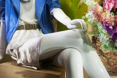 Woman dummy store window Royalty Free Stock Images