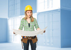 Woman on duty Royalty Free Stock Photography