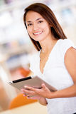 Woman with an e-book reader Stock Image