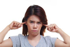 woman ear ache Royalty Free Stock Photos