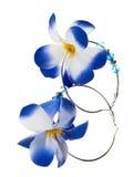 Woman earings. Pair of woman flower designed earings Royalty Free Stock Image