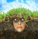 Woman in earth Royalty Free Stock Photos