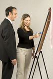 Woman at Easel Royalty Free Stock Photography