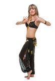 The woman in east dancing suit Stock Photography