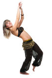 The woman in east dancing suit Stock Photos