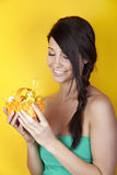 Woman with Easter basket Royalty Free Stock Photos
