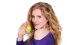 Woman with easter egg Royalty Free Stock Photo