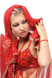 Woman in the eastern arabian dress Stock Image