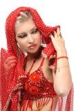 Woman in the eastern arabian dress Stock Image