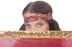 Woman in eastern dress Stock Photography