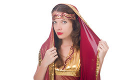 Woman in eastern dress Royalty Free Stock Photo