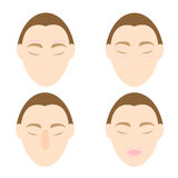 Woman easy massage anti face wrinkle 1 Royalty Free Stock Photo