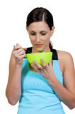 Woman Eating royalty free stock photography
