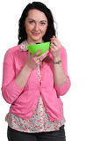 Woman Eating Royalty Free Stock Photos