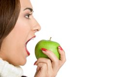 Free Woman Eating Apple Royalty Free Stock Images - 3510499