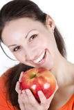 Woman eating apple Royalty Free Stock Image