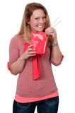 Woman Eating stock photography