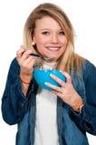 Woman Eating stock photos