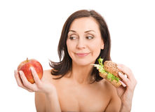 Woman Eating Burger Royalty Free Stock Images