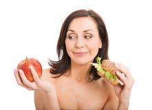 Woman Eating Burger Royalty Free Stock Images