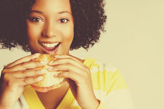 Woman Eating Food Royalty Free Stock Image