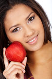 Woman eating healthy Stock Images