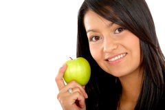 Woman eating healthy Royalty Free Stock Photography