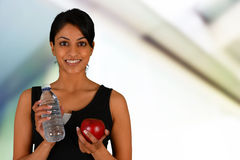 Woman Eating Healthy After Workout Stock Photos