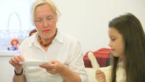 Woman Eating Ice-Cream stock footage