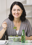 Woman Eating Lunch Stock Images