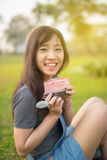 Woman eating A Piece of cake Royalty Free Stock Photos