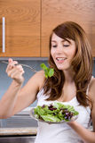 Woman eating a salad Royalty Free Stock Photo